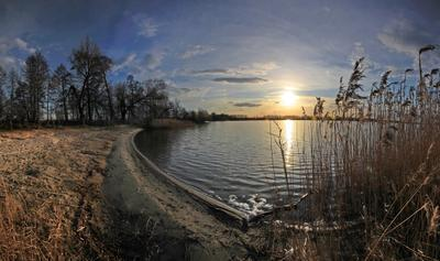Закат на Святом озере. Шатура