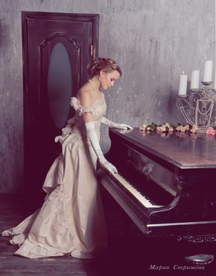 Мелодия девушка ретро музыка рояль