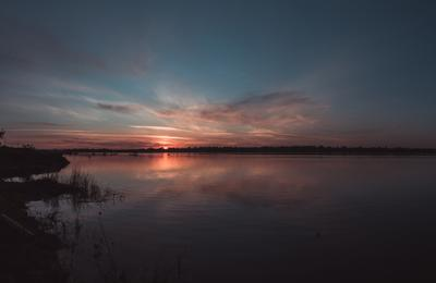 Рассвет в Гольянах гольяны река рассвет утро облака небо