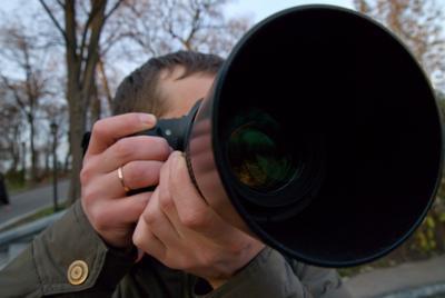 Глаз. Или хобот? фотограф, широкоугольник, глаз, объектив