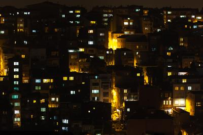 windows Turkey Istanbul city night windows view