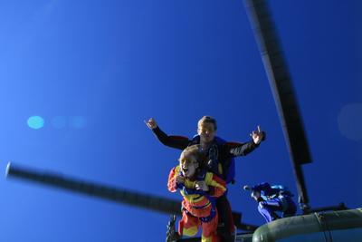 First time thrill парашют, высота, вертолет