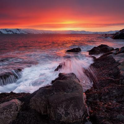 Арктик Брют longexposure териберка рассвет арктика баренцево море