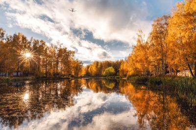 Шереметьевский пруд. Долгопрудный Шереметьевский Подмосковье Московская область