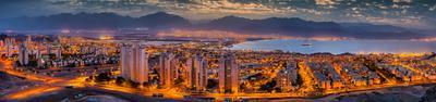 Где-то есть город панорама эйлат акаба израиль иордан красное море залив курорт тепло