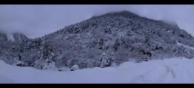 Зима в горах Осетии Дзинага, Осетия, Горы, Зима, Нива, Снег