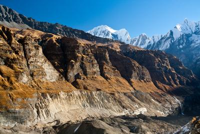 Марсианские виды Annapurna, morena, base camp