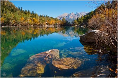Третье Бадукское озеро. Жосс Бомон Бадукские озёра Домбай