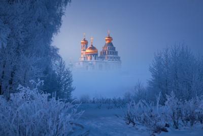Золото Истры Истра Новоиерусалимский монастырь мороз иней туман
