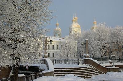 спб.никольский красногвардейский мост никольский собор петербург зима