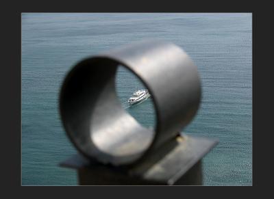 Глазок Сугдеи Судак Крым море корабль забор глазок