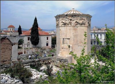Башня ветров Греция Афины Агора камни Башня ветров город