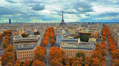 Где-то в Париже Париж, Франция, Европа, город, Эйфелева башня, башня, Монпарнас, улицы, пейзаж, путешествия