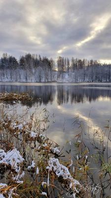 Облака над Адольфовой горой СПб Парголово Финское озеро