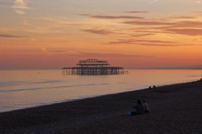 Burnt to the sea... Brighton, UK, West pier, England