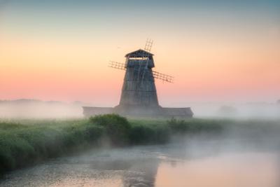 Раннее утро на Сороти утро туман лето рассвет мельница