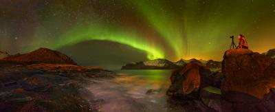 Звездочёт. Норвегия Северное Сияние