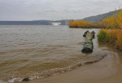 Осень на Ангаре ангара гэс кежма богучаны