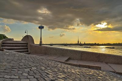 *** Санкт-Петербург Кутузовская набережная Прачечный Троицкий мост