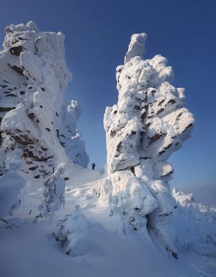 В зачарованной стране Пейзаж природа Урал зима горы скалы останцы Колчимский камень Сергей Макурин