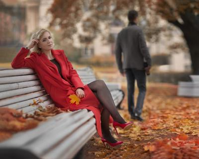 Осень. И этим всё сказано... осень женщина мужчина отношения грусть драма настроение