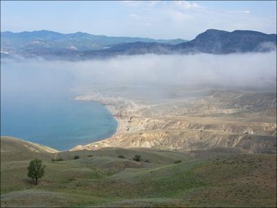 Рыбачий пляж Крым МЕганом облака
