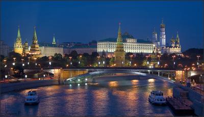 Вечерняя Москва Москва Кремль