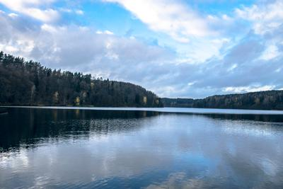 Голубая  осень озёра