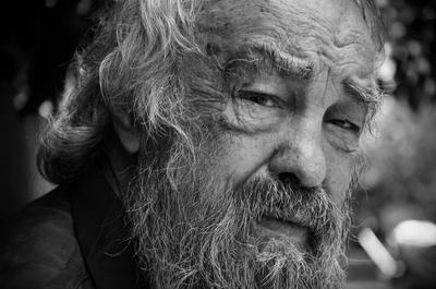 Как-то во дворе дед портрет борода глаза взгляд седена старость старик