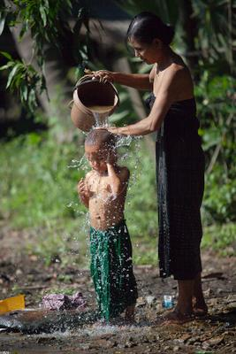 *** мьянма бирма ребенок мама
