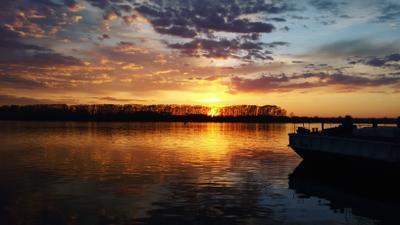 Закат на Волге закат Волга