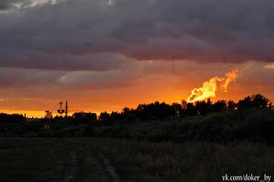 Закат над Борисовом закат борисов солнышко солнце
