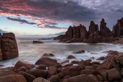 Выход дракона Australia Melbourne Victoria Phillip island sunset