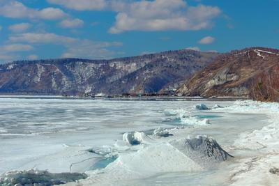 Лёд на Байкале байкал лёд листвянка озеро