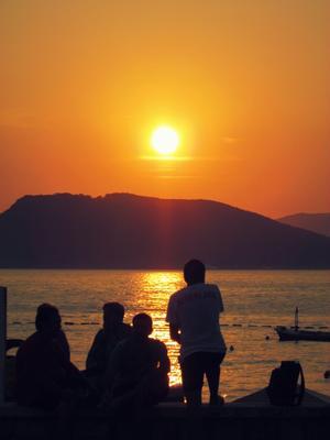 Закат в Черногории Черногория остров Святой Стефан закат
