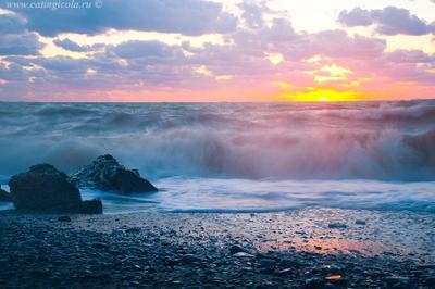 Море, волны,... Черное море, Крым, волны, закат