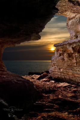 Вид из пещеры.