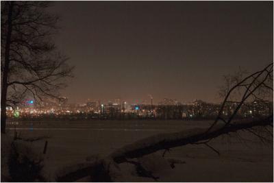 Ночная прогулка по Новосибирску город Новосибирск ночь прогулка река Обь mamanna2007 зима