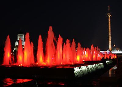 Москва. Поклонная гора. фонтан москва