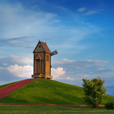 Небесная мельница мельница, белгород, Ботанический сад,