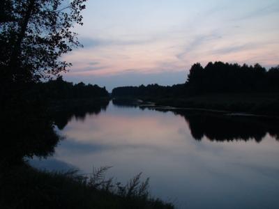 Вечер у речки закат вечер сумерки река речка