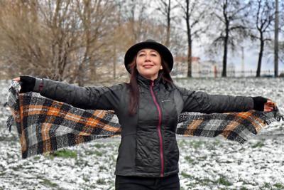 Певица Татьяна Волкова на Куракиной даче Татьяна Волкова певица шарф шляпа Куракина дача