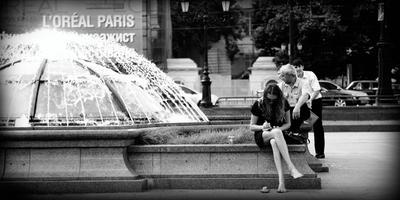 Московские зарисовки москва, фонтан, девушка