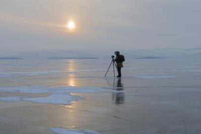 В поисках истины . Байкал Малое море Ольхон лед Март фотограф