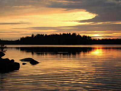 закат, Карелия природа пейзаж