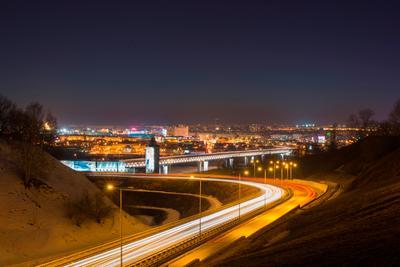 *** метромост Нижний Новгород мост ночь город