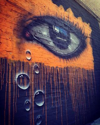 У стен есть не только уши. Графити око глаз рисунок