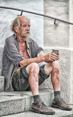 Бродяжка... Бездомные люди старость