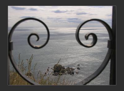 Сердце Сугдеи Крым Судак Сугдея море природа камни завитки сердце
