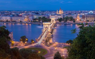 Будапешт Будапешт Венгрия ночная съемка